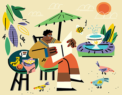 Illustrations for Honey Nut Cheerios article