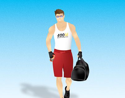 """Back to the gym"" illustration"