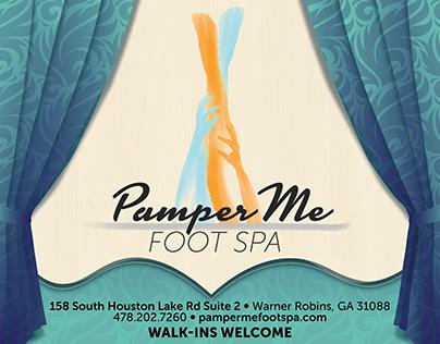Pamper Me Foot Spa Flyer
