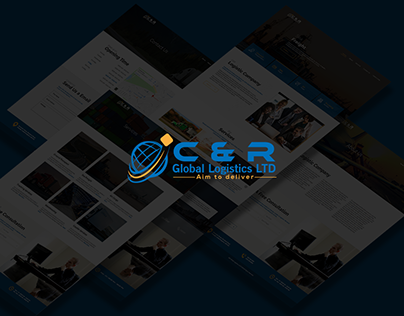Global Logistics Website Design.