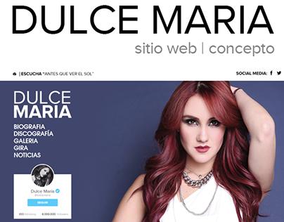 Dulce María - Sitio Web (Concepto)
