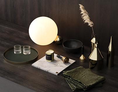 Skultuna, Decorative Set