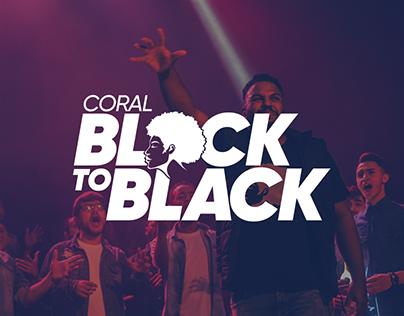 Visual Identity - Coral Black to Black