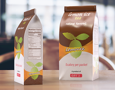 LEMON TEA PACKAGING DESIGN