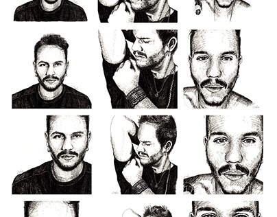 Brazilian Pop Music Singer Portraits
