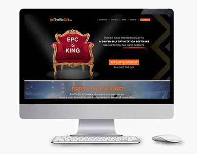 Trafficon - Affiliates website design