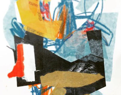 Abstract mixed media collages