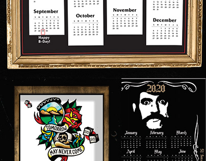 Wall Calendars 2020 Inspired by favorite Bands