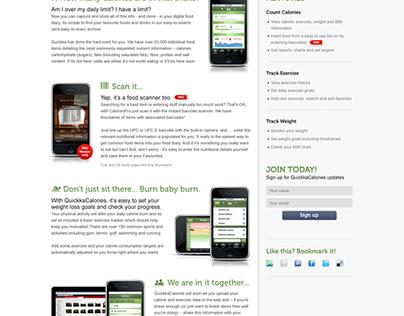 Quickka Calories iPhone website