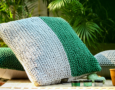 Hand knitted- Cotton cushion covers and pillows