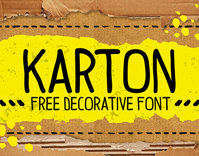 KARTON. Free decorative hand drawn font