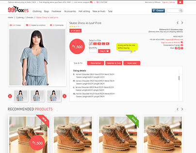 99foxes ecommerce website
