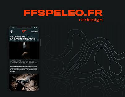 FFSPELEO UX/UI Redesign