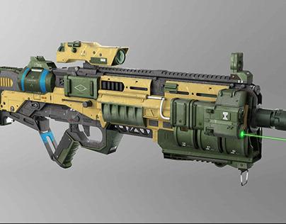 Sci-Fi Machine Gun