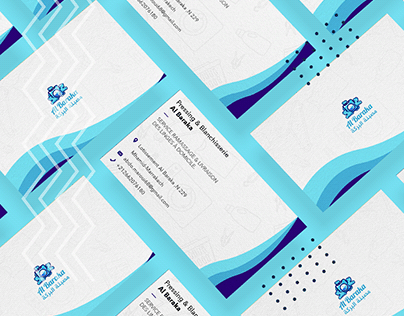 Laundry business card design