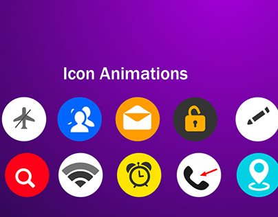 Mobile App Icon Animations