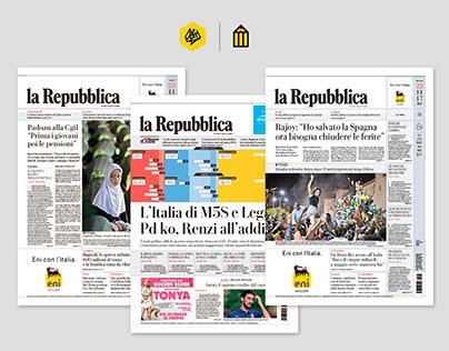La Repubblica Newspaper Redesign