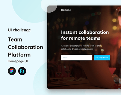 Team.Inc - team Collaboration Platform Website