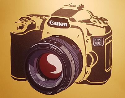 Canon EOS 40D 2006 + paper
