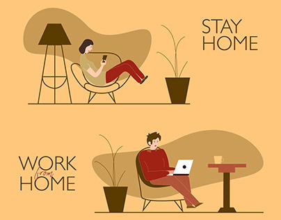 Illustration - STAY HOME