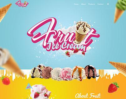 Landing Page - Fruit Ice Cream