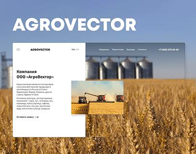 Agrovector Website Design