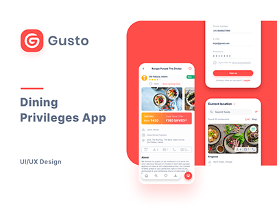 Gusto - Dining Privileges App