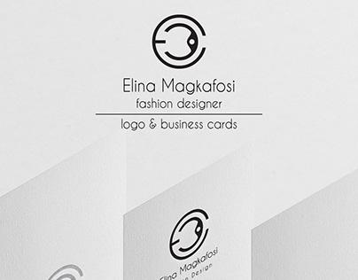 Elina Magkafosi Fashion Designer Logo & Business Cards