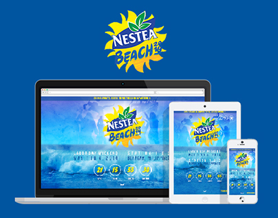 Nestea Beach 2014 Responsive Website