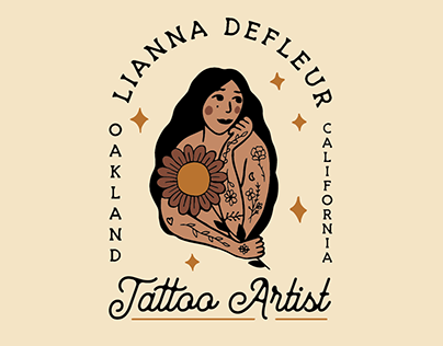 Branding for Lianna Defleur tattoo artist
