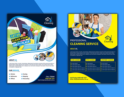 CREATIVE CLEANING FLYER DESIGN