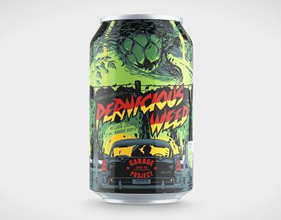 Beer Label Redux II / PERNICIOUS WEED