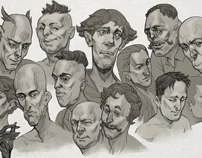 Portraits sketches'19