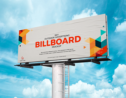 Free Advertising PSD Billboard Mockup