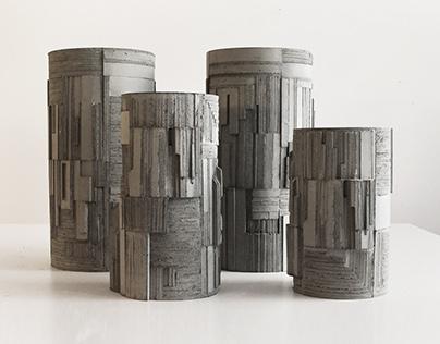 Brutalist Concrete Vases
