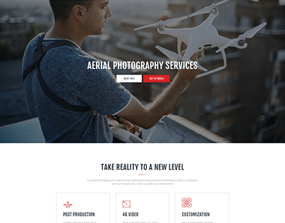 Drone Media-Multiple Page Design By Wordpress
