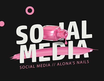 Alona's Nails - social media