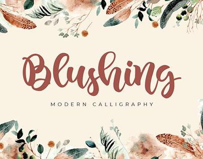 Blushing | Modern Calligraphy