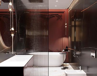 Pomegranate Bathroom