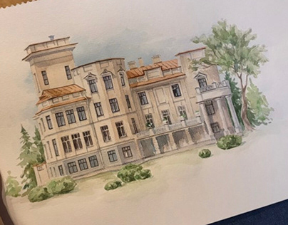 Watercolor and architecture