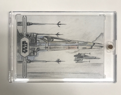 X-Wing Star Wars Topps Sketchcard