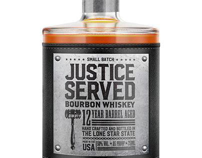 Justice Served Bourbon Whiskey Design