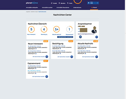 PlanetHome Message Center UI&UX Design