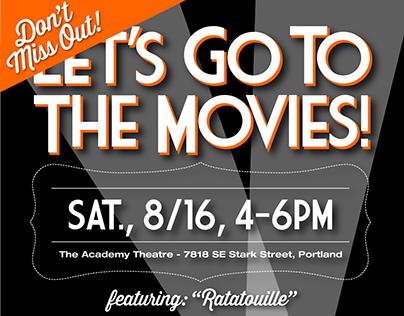 Movie Night E-vite for Bonner and McKnight Realtors
