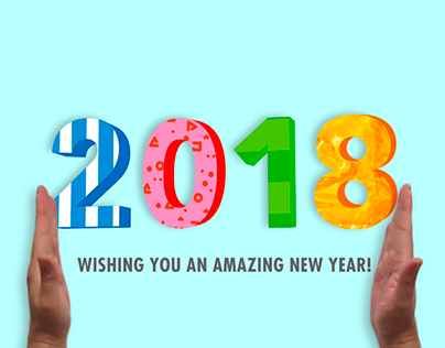 Happy New Year 2018 animated e-card