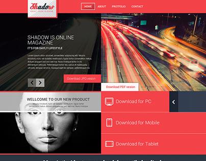 Shadow – Fashion/Megazine Template Design