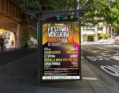Poster design for Vidigueira Jovem Music Festival 2008