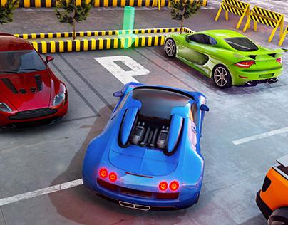 Muscle Car Parking Games: Modern Car Driving
