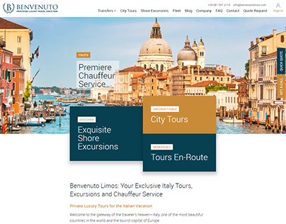 Web Application - Tours and Transport