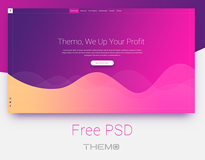 Agency Rainbow - Free PSD